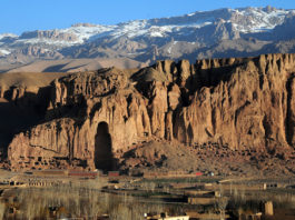 Sunrise of Bamyan Valley - Buddha in Afghanistan