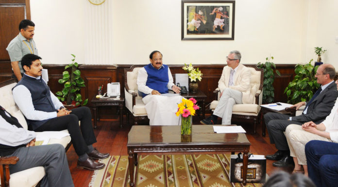 A Ukrainian delegation meeting the Union Minister for Urban Development, Housing & Urban Poverty Alleviation and Information & Broadcasting, Shri M. Venkaiah Naidu to discuss the prospects of launching Ukraine-India Co-operation in Information & Broadcasting fields, in New Delhi on February 27, 2017. The Minister of State for Information & Broadcasting, Col. Rajyavardhan Singh Rathore and the Secretary, Ministry of Information & Broadcasting, Shri Ajay Mittal are also seen.