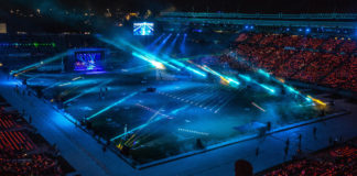 World Masters Games. Opening ceremony at Eden Park. Auckland. 21 April 2017. Photo:Gareth Cooke/Subzero Images