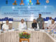 The Union Minister for Urban Development, Housing & Urban Poverty Alleviation and Information & Broadcasting, Shri M. Venkaiah Naidu reviewing the implementation of flagship schemes of M/o Urban Development, Housing & Urban Poverty Alleviation, in the presence of the Chief Minister of Chhattisgarh, Dr. Raman Singh, at Raipur, Chhattisgarh on May 26, 2017.