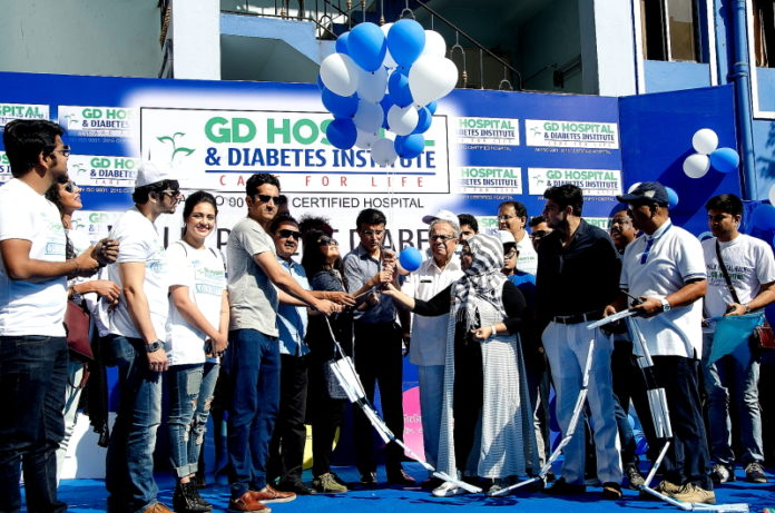 Bengal Walks on Road for Awareness Generation about Diabetes