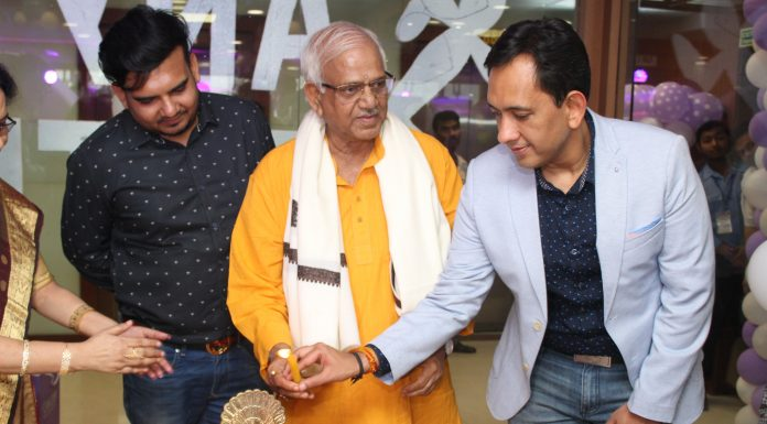 SOVANDEB CHATTOPADHYA , HONOURABLE MINISTER, POWER ALONG WITH VIKAS JAIN, MANAGING DIRECTOR ANYTIME FITNESS, INDIA AT THE LAUNCH OF ANYTIME FITNESS GYM, KOLKATA
