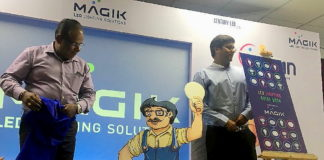 MAGIK LED Lighting Guide Book and Mr. Chamak Dhamak launched by Century LED at the first ever Electronic Meet, Milan