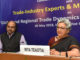 The Commerce Secretary, Ms. Rita A. Teaotia briefing the press at the end of interactive session with Trade-Industry Experts on 'Global and Regional Trade Dynamics: India's Future Trade Strategy', organised by the Centre for Regional Trade (CRT), in New Delhi on May 09, 2018.