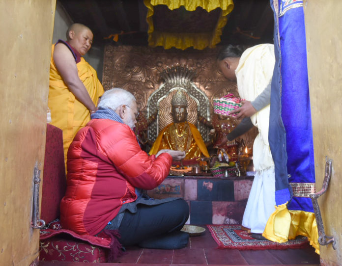 The Prime Minister, Shri Narendra Modi offering prayers at Muktinath Temple, in Nepal on May 12, 2018.