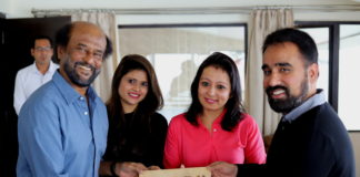 Superstar Rajinikanth and Mr. Mehul Parekh with the new name of the Director's bungalow at Allita