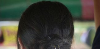 Be Careful - Don't Come Close warning in Hair Pin in Bengali