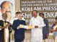 The Vice President, Shri M. Venkaiah Naidu releasing the Special Postal Cover and Stamp, at the Golden Jubilee celebrations of Kollam Press Club, in Kollam, Kerala on February 02, 2019. The Governor of Kerala, Justice (Retd.) P. Sathasivam, the Minister for Fisheries, Kerala, Smt. J. Mercykuttyamma, the Mayor, Kollam Corporation, Shri V. Rajendrababu and other dignitaries are also seen.