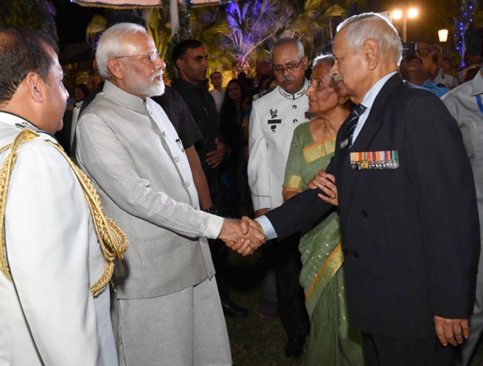 The Prime Minister, Shri Narendra Modi attends 'At Home' Reception of the Indian Air Force, in New Delhi on October 09, 2019.