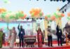 """The Special Secretary & Financial Advisor, Ministry of Tourism, Shri Rajesh Kumar Chaturvedi at the inauguration of the """"Bharat Parv"""", as part of the Republic Day 2020 celebrations, at Red Fort, in Delhi on January 26, 2020."""