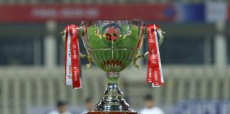 ISL Trophy during the final of the Indian Super League ( ISL ) between ATK FC and Chennaiyin FC held at the Jawaharlal Nehru Stadium, Goa, India on the 14th March 2020. Photo by: Faheem Hussain / SPORTZPICS for ISL