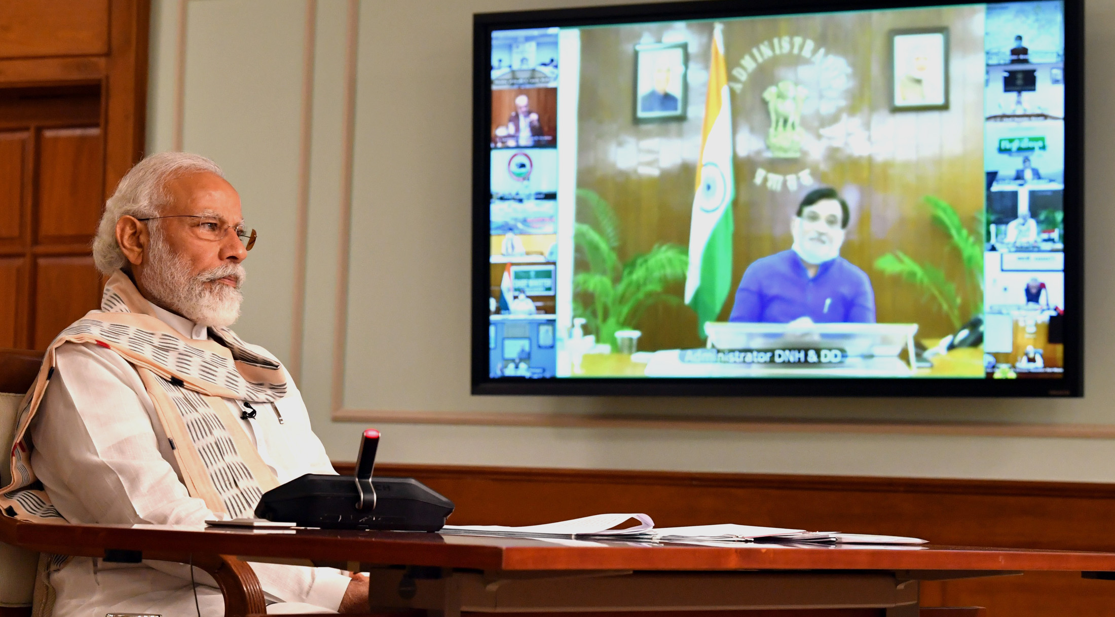 The Prime Minister, Shri Narendra Modi interacting with the Chief Ministers via video conferencing to discuss the situation emerging post Unlock 1.0 and plan ahead for tackling the COVID-19 pandemic, in New Delhi on June 16, 2020.
