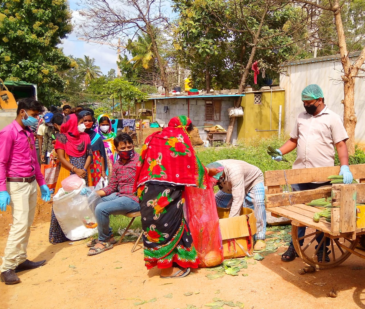 Touch of Humanity by CPIM at Bangalore for poor and needy