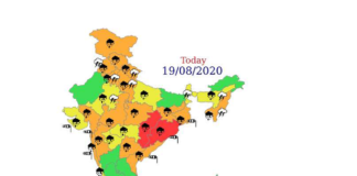 Rain Fall in India during August 2020