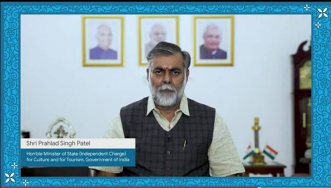 """Union Minister of State for Culture and Tourism (I/C) ShriPrahlad Singh Patelvirtually launches """"Life in Miniature"""" project"""