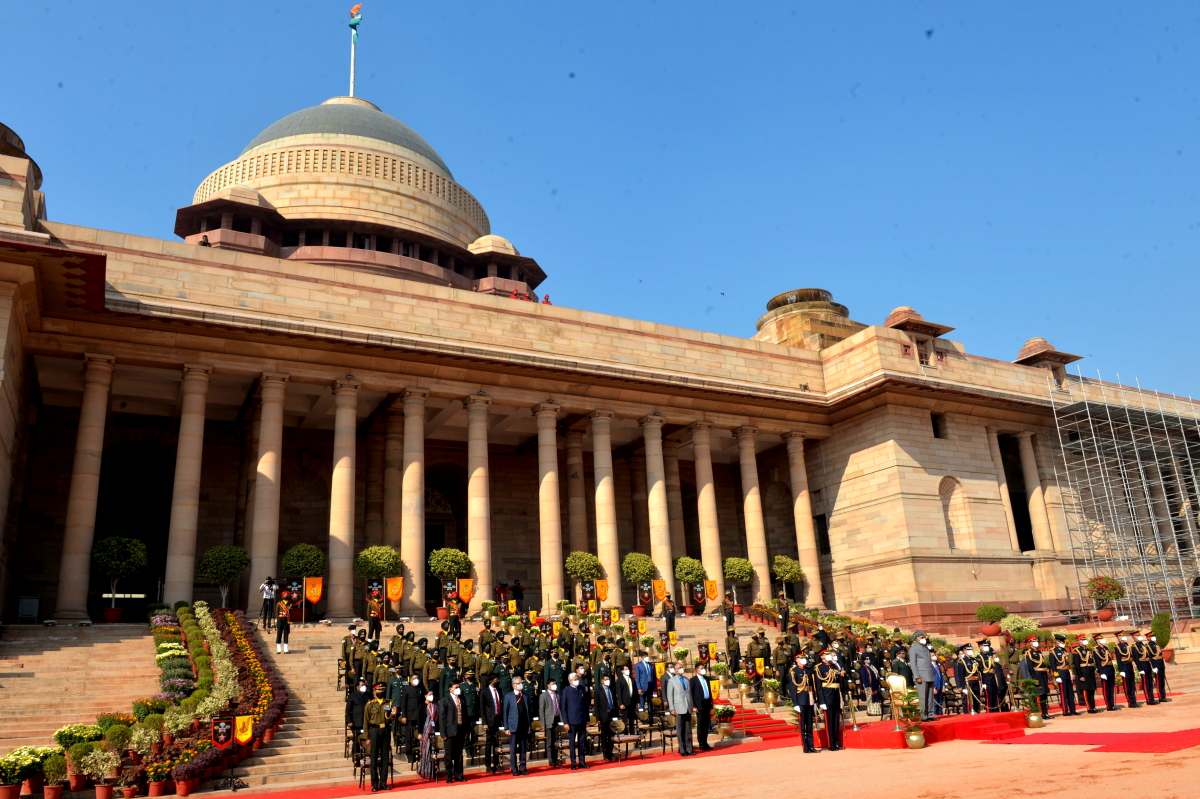 President of India at Change of Guard at President House