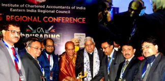 Shri Jagdeep Dhankhar, Governor of West Bengal with his first lady Mrs. Sudesh Dhankhar & others during the inauguration ceremony of the 45th Regional Conference organised by ICAI & EIRC held at ITC Royal Bengal