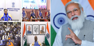 The Prime Minister, Shri Narendra Modi addressing the 66th Convocation of IIT Kharagpur, through video conferencing, in New Delhi on February 23, 2021.
