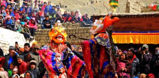 Cham dance during Dosmoche festival in Leh Palace