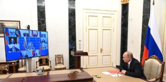 Meeting with permanent members of the Security Council (via videoconference).