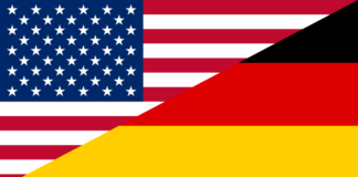Flag of the United States and Germany