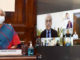 The Union Minister for Finance and Corporate Affairs, Smt. Nirmala Sitharaman presiding over a meeting between the senior officials of the Finance Ministry and the tax professionals, stakeholders and Infosys on issues in new Income Tax Portal, through video conferencing, in New Delhi on June 22, 2021.