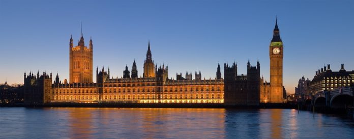The Palace of Westminster, Big Ben, and Westminster Bridge By Wikipedia