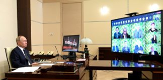 During a meeting of the APEC Economic Leaders (via videoconference).