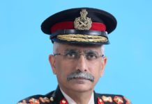 General MM Naravane, the Chief of Army Staff (COAS) by Wikipedia