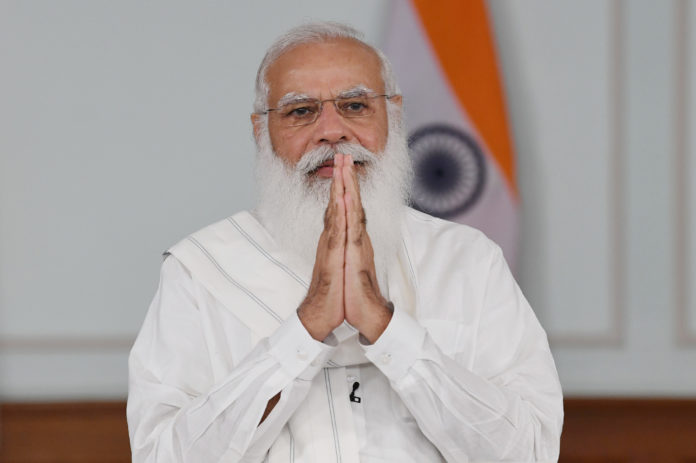 The Prime Minister, Shri Narendra Modi addressing the Doctors, on the National Doctors' Day, through video conferencing, in New Delhi on July 01, 2021.