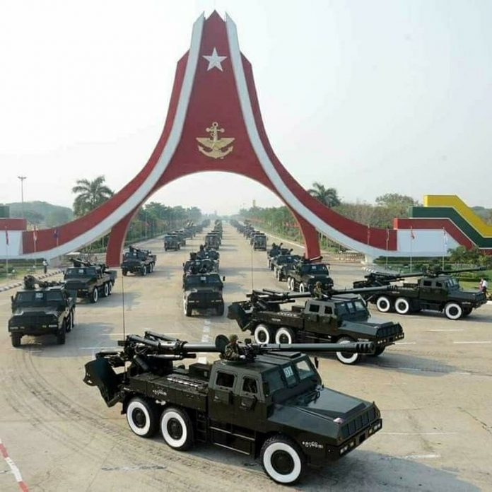 SH-1 self-propelled artillery systems of Myanmar Army