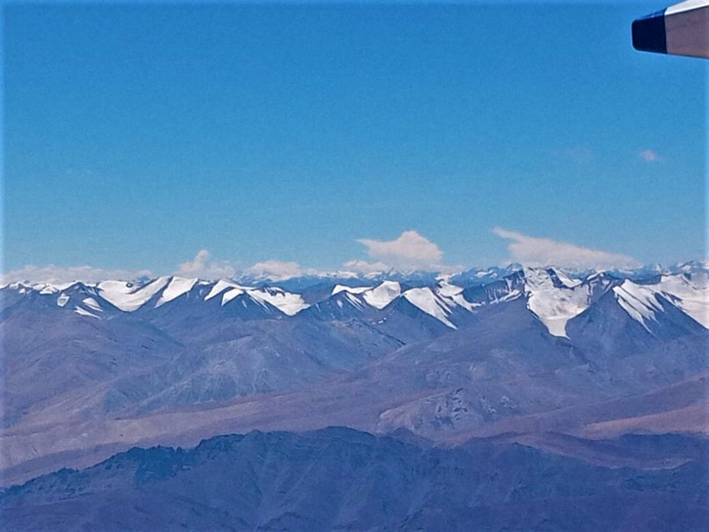 Birds Eye View of Ladakh from Aircraft by Rumi Das