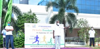 IIT Bhubaneswar successfully conducts Mini-Marathon inside the Campus as part of Fit India Freedom Run 2.0