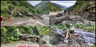 Dharchula BRO Working for Road Works