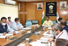 The Union Minister for Education, Skill Development and Entrepreneurship, Shri Dharmendra Pradhan virtually meeting the Vice Chancellors of 45 Central Universities under the Ministry of Education, in New Delhi on September 03, 2021.