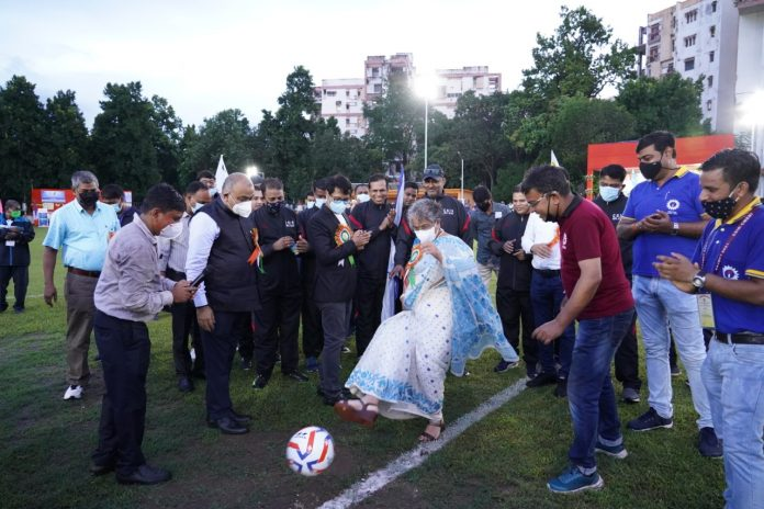 Inauguration of the First-Ever Prof. S.K. Joshi Memorial Football Tournament and Foundation Stone Laying of the Multi-Purpose Sports Ground