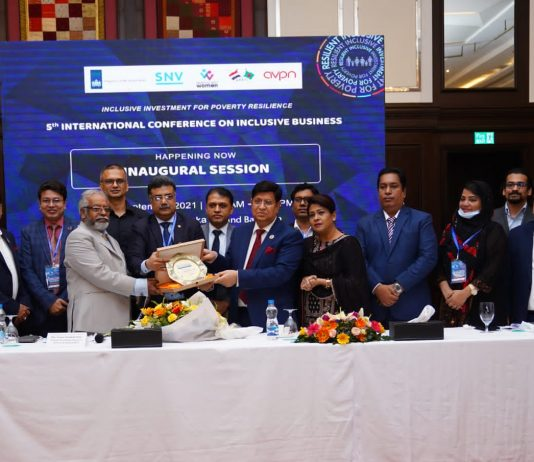 """Bangladesh Foreign Minister Puts Emphasis on ESG and Economics of Mutuality for Sustainability""""5th International Conference on Inclusive Business"""" held at Le Meridien Hotel, Dhaka."""