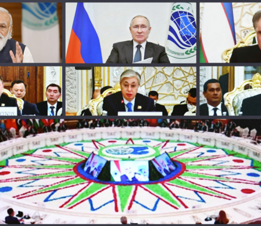 The Prime Minister, Shri Narendra Modi addressing at the Plenary Session of the 21st Meeting of SCO Council of Heads of State, through video conferencing, in New Delhi on September 17, 2021.