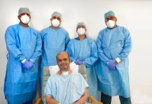 Dr. Sanath Kumar along with the treating doctors at Aster CMI