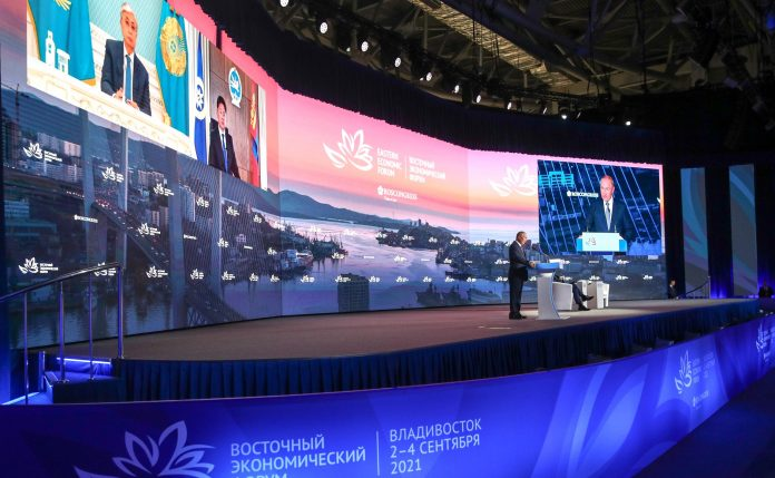 Speech at the plenary session of the Eastern Economic Forum - Photo Agency TASS