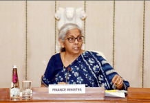 The Union Minister for Finance and Corporate Affairs, Smt. Nirmala Sitharaman
