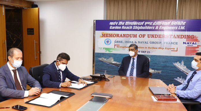 GRSE and Naval Group of France Strengthen Cooperation in field of Surface Ships